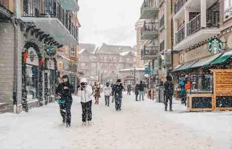 Snow Falling in Blue Mountain Village