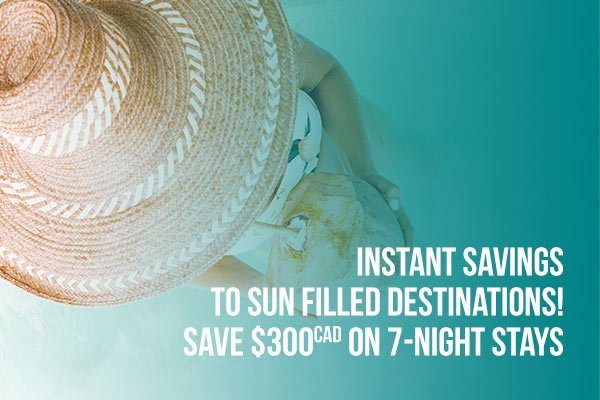 WestJet Vacations - Save $300 on 7 night stays