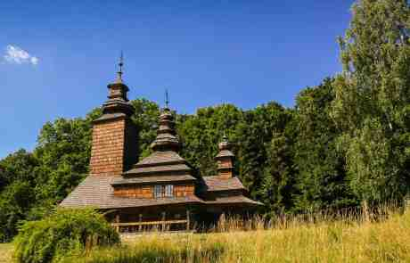 Shevchenkivskiy Hai Open-Air-Museum - Brown Building in the woods