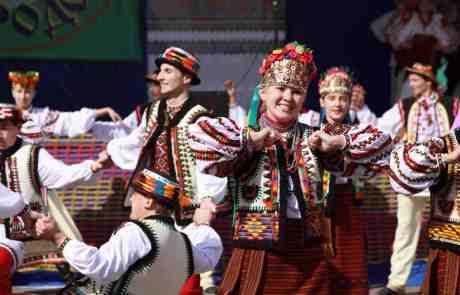 Colourful Ukrainian Dancers