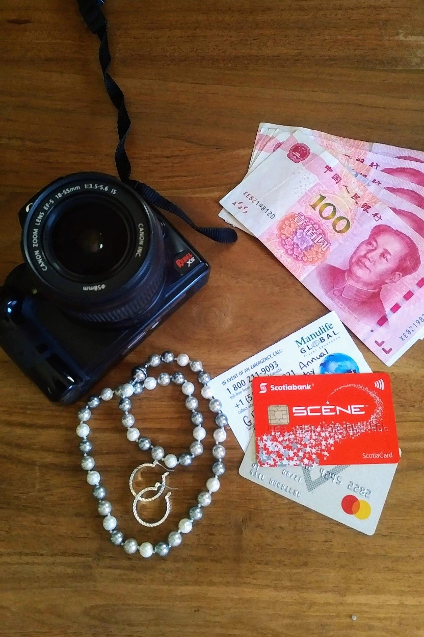 Camera, Jewelerry, Credit Cards - Leave Valuables in your Carryon